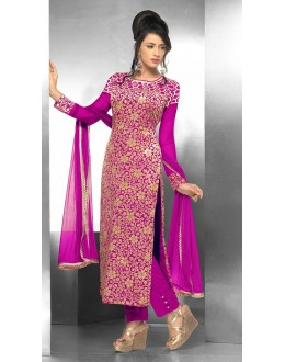 Party Wear Georgette Pink Salwar Suit - FFP15-2044