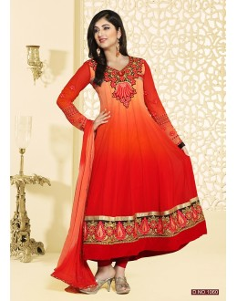 Party Wear Orange Anarkali Suit - FFP4-1060
