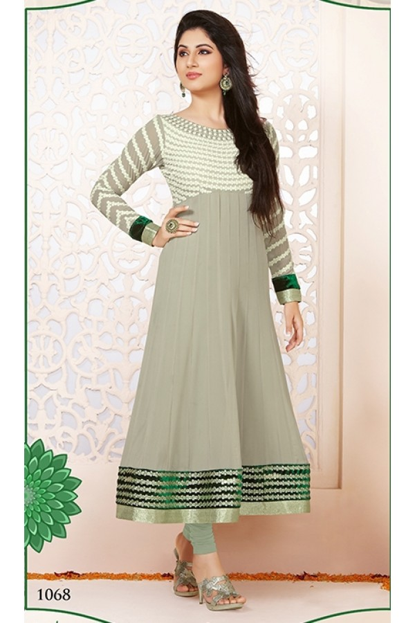 Festival Wear Georgette Grey Anarkali Suit - FFP5-1068