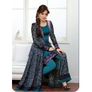Party Wear Georgette Blue & Purple Anarkali Suit - FFP9-2002