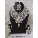 Ethnic Necklace Set With Mangtika & Earrings - 04