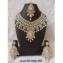 Ethnic Necklace Set With Mangtika & Earrings - 08