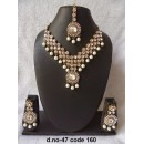 Ethnic Necklace Set With Mangtika & Earrings - 47
