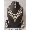 Ethnic Necklace Set With Mangtika & Earrings - 61