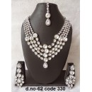 Ethnic Necklace Set With Mangtika & Earrings - 62