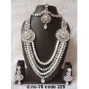 Ethnic Necklace Set With Mangtika & Earrings - 78